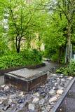 Walk way after the rain. In Geneva. Switzerland Royalty Free Stock Photography