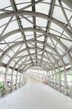 Walk way and steel roof, entrance to department stores, Thailand Royalty Free Stock Photo