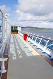 Walk way on sundeck of the cruise ship Stock Photos