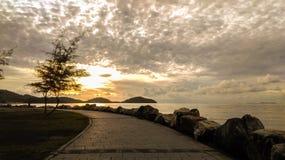 Walk way with sunrise Stock Photography