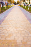 Walk Way Surface. Of Colorful Concrete Blocks Royalty Free Stock Photography