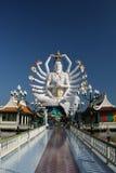 Walk way to Giant white buddha Stock Images