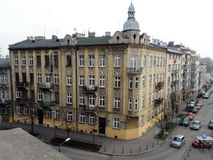 City of Krakow. Poland The landscape of ancient streets, Catholic cathedrals and medieval fortresses. stock images