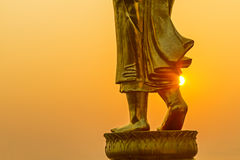 Walk wiht sunrise Stock Image