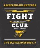 Walka klub Ręka wykonujący ręcznie typeface projekt Ilustracja Wektor