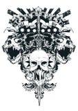 Walka lub kostka do gry royalty ilustracja