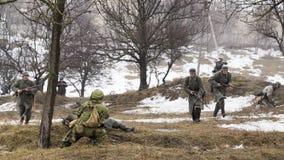 Walka między rosjanów wziernymi i Niemieckimi żołnierzami Zdjęcia Royalty Free