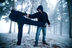 walka na zewnątrz zdjęcie stock