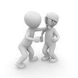 Walka w bokserskim pierścionku Zdjęcie Royalty Free