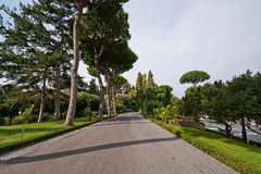 Walkat The Vatican Gardens Stock Photo