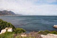 Walker Bay, Hermanus, South Africa. Dark blue waters in Walker Bay, Hermanus, South Africa Royalty Free Stock Image