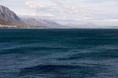 Walker Bay, Hermanus, South Africa. Dark blue waters in Walker Bay, Hermanus, South Africa Stock Images