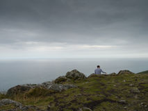 Walker on Bray head,dublin,Ireland Stock Photography
