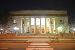 Walker Memorial in MIT at night, Massachusetts, USA royalty free stock photo