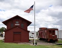 Walker Railroad Depot Stock Photography