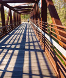 Walker on the Roanoke Valley Greenway Stock Photography