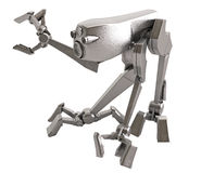 Walker Robot, Metallic Royalty Free Stock Image