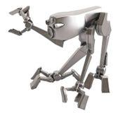 Walker Robot, Metallic. Small 3d Walker Robot, isolated Royalty Free Stock Image