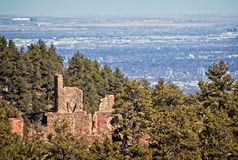Walker ruins in Mount Falcon Park, Jefferson County, Colorado stock images