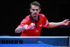 WALKER Samuel from England backhand Royalty Free Stock Image