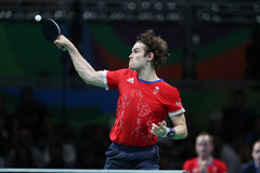 Walker Samuel playing table tennis at the Olympic Games in Rio 2016. Stock Photos