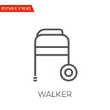 Walker Vector Icon Fotografie Stock