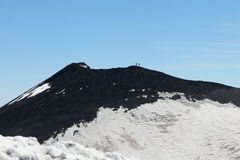 Walkers on mount Etna, Sicily. Stock Photo