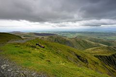 Walkers at rest on Blencathra Stock Images