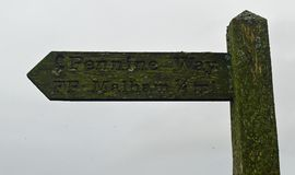 Walkers Signpost Yorkshire Dales National Park royalty free stock photo