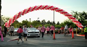 WalkFor The cure Stock Images