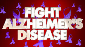 Walki Alzheimers choroby świadomości faborków Fundraiser Obrazy Royalty Free
