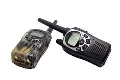walkie för talkie två fotografering för bildbyråer