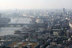 Вид с воздуха Лондона от здания звукового кино Walkie на улице 20 Fenchurch Стоковые Изображения RF