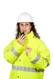 walkie talkie говоря Стоковая Фотография RF