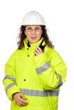 walkie talkie говоря Стоковые Фото