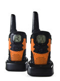 Walkie talkie. Picture of two wet short-wave radios Stock Image