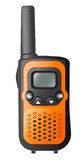 Walkie-talkie. The equipment for conversation,hand-held, portable, two-way radio transceiver Stock Image