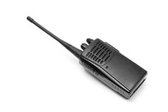 Walkie talkie. A ham radio handheld transceiver Stock Photo