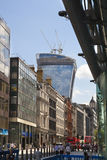 Walkie Talkie building, view from the Bank of England square Royalty Free Stock Image