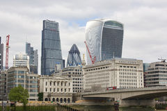 Walkie-Talkie, Cheese Grater, and Gherkin Stock Photography