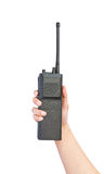 A walkie-talkie in hand Royalty Free Stock Image