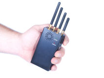 Walkie-talkie in hand Royalty Free Stock Photo