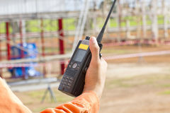 Walkie talkie for outdoor Royalty Free Stock Photos
