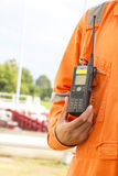 Walkie talkie for outdoor Stock Image