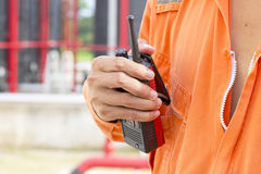 Walkie talkie for outdoor Stock Photos