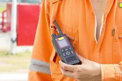 Walkie talkie for outdoor Royalty Free Stock Image