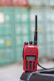 Walkie-talkie radio. On blur background Stock Photography
