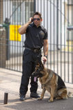 On the walkie talkie Stock Image