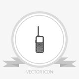 Walkie talkie vector icon. radio transmitter Royalty Free Stock Image