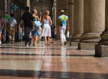 Walking. On Milan trade center Stock Photos